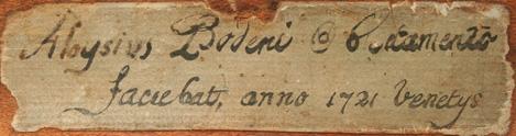 Bodeni Aloysius Venice 1721